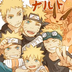 Naruto at different ages