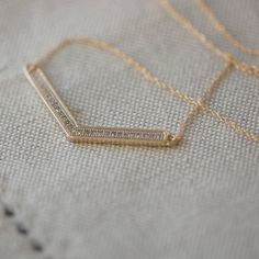 chevron necklace with pave diamonds by oh so cherished | notonthehighstreet.com