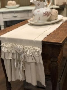 Custom Farmhouse Table Runner or Dresser runnermulti image 3 Country Bedding Sets, Mens Bedding Sets, Luxury Bedding Sets, Farmhouse Table Runners, Farmhouse Dining Room Table, Rustic Farmhouse, French Country Tables, Ivoire, Table Linens
