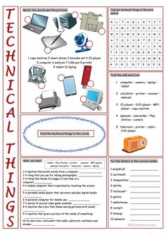 Technical Things Vocabulary Exercises worksheet - Free ESL printable worksheets made by teachers