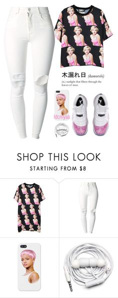 """""""Imma get his hole mf famly"""" by idcmyaa ❤ liked on Polyvore featuring Chicnova Fashion, (+) PEOPLE, Karl Lagerfeld, Retrò and Urbanears"""