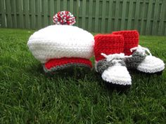 Hey, I found this really awesome Etsy listing at https://www.etsy.com/listing/208716439/baby-golf-shoe-booties-hat-red-socks