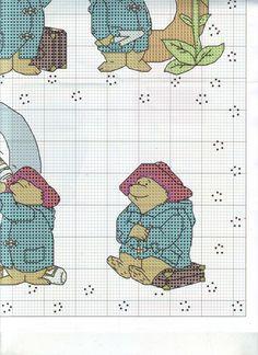 ru / Фото - The world of cross stitching 146 - tymannost Cross Stitch Numbers, Cross Stitch Cards, Cross Stitch Alphabet, Cross Stitching, Cross Stitch Patterns, Teddy Bear Puppies, Teddy Bears, Paddington Bear, Animal Crackers