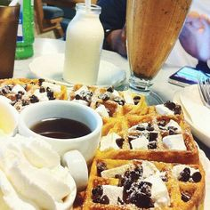 Delicious waffle i found in Bangkok, Thailand.