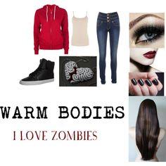 """WARM BODIES : R"" by chellebritton on Polyvore Warm Bodies, Dark Red, Ann, My Love, Polyvore, Clothes, Image, Black, Fashion"