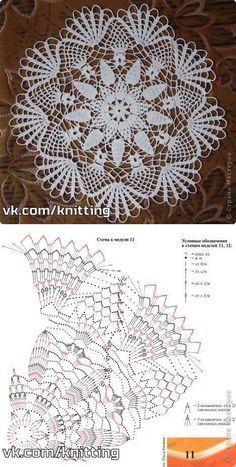 Delicate crochet lace. Doily N |