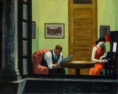 Edward Hopper - Room in New York (1932)