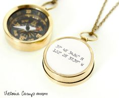 Latitude and Longitude Coordinates Compass by VictoriaCampDesigns, $36.00. If I ever leave again, maybe get one with Abilene's coordinates?