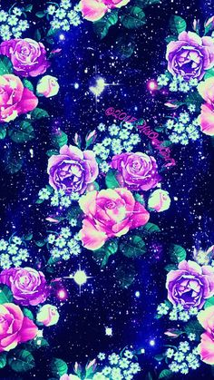 Sweet flowers galaxy wallpaper I created for the app CocoPPa! Cocoppa Wallpaper, Cute Galaxy Wallpaper, Wallpaper Iphone Neon, Flowery Wallpaper, Cute Panda Wallpaper, Cute Disney Wallpaper, Kawaii Wallpaper, Love Wallpaper, Cellphone Wallpaper
