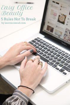Easy Office Beauty: 5 Rules Not to Break