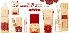 20% off natural Persian Rose fragrance