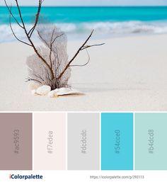 Color Palette Ideas from Shore Sea Sand Image Brown Color Schemes, Interior Color Schemes, Paint Schemes, Beach Color Palettes, Colour Pallete, Wall Colors, House Colors, Paint Colors, Tropical Colors