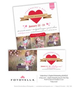 Valentine's Day Mini Session Marketing  Three Piece by FOTOVELLA, $15.00