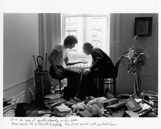 Duane Michals, I could see it quite clearly in his palm. There would be a terrible tragedy. My love could not protect him., 1979