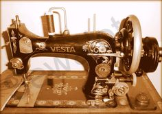 The Vesta Vibrating Shuttle sewing machine. Post First World War, the 'Made in Germany' was removed.