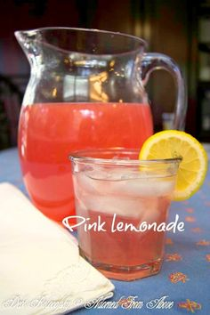 Adorned From Above: Homemade Pink Lemonade for Friday's Happy Hour