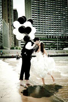 Classy black white balloons make a fun photo prop for the bride groom Wedding Blog, Our Wedding, Dream Wedding, Wedding Stuff, Wedding Pins, Black And White Balloons, Black White, White Clouds, Monochrome Weddings
