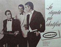 """La elegancia masculina hace 50 años... Sastrería """"González"""" un clásico."""