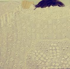 Giordanne Salley, untitled (white painting), 2012. Oil on canvas. 16in x 16in