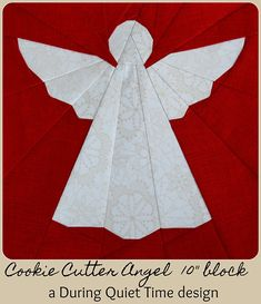 I thought that I was done creating new blocks for my Christmas quilt for this year. I had even packed them away in their box. But I needed to make one more! This angel reminds me a bit of a cook…