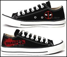 Deadpool Low-Tops Converse Shoes by RahulMistry on Etsy