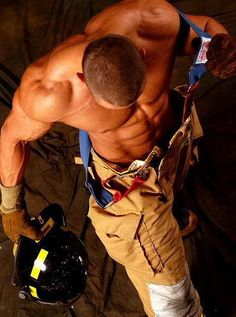 it's a tough job, even shirtless.  :)