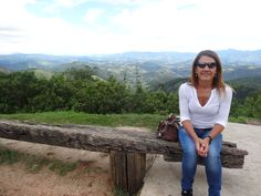 Sandra with the valley looking back from Campos Do Jordão, a beautiful city in the mountains about 2.5 hours from São Paulo.