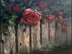 Paint with Kevin - Roses over the Fence - YouTube