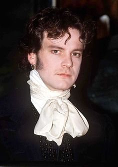 Colin Firth, male actor, celeb, costume, curly, powerful face, intense eyes, Mr. Darcy, hot, sexy, cute, portrait, photo