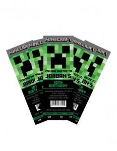 'Event Ticket' style Custom Minecraft Invite ($9.99)