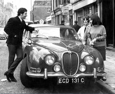 Tom Jones shows off his new Jaguar car to three young fans in London, April 1966 New Jaguar Car, Jaguar Type, Jaguar Cars, Tom Jones Singer, Sir Tom Jones, Pop Rock Music, London Today, Pop Singers, Movie Stars