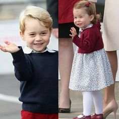 Prince George and his little sister Princess Charlotte, Canada Tour 2016