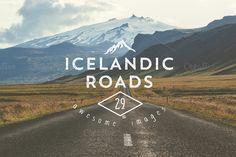 29 Icelandic Roads by Madebyvadim on @creativemarket