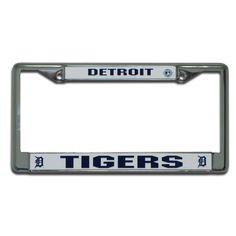 Detroit Tigers MLB Chrome License Plate Frame