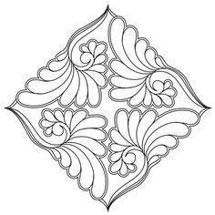 Blocks - Quilts Complete - Longarm Continuous Line Quilting Patterns Free Motion Embroidery, Hand Embroidery Designs, Embroidery Patterns, Quilt Patterns, Jewellery Sketches, Jewelry Drawing, Batik Pattern, Mandala Pattern, Mandala Coloring Pages