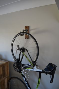 Industrial Bike Rack Bike Rack by BradsCustomWoodwork on Etsy