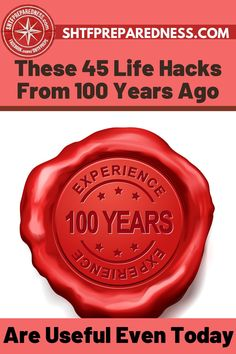 We are always in search for life hacks that will make things easier for us, but what about these 45 life hacks from over 100 years ago? Sometimes the most simple and easy old school hacks are the best for survival, not to forget will make your life easier. Check out SHTFPreparedness post here for more information. #lifehacks #lifehacksfrom100yearsago #oldlifehacks #thebestlifehacks