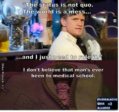 Doctor horrible / toy story crossover quote.
