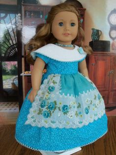 Spring Apron Gown for Marie Grace or Cecile/ by Farmcookies