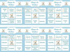 bingo para chá de bebê com lista de presentes