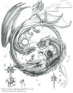 Tattoo Designs ANIME | Realistic European Dragon Tattoo Designs Pictures