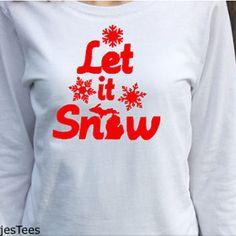 Michigan Let it Snow Shirt, Long Sleeve Michigan Shirt, Mitten Shirt, Womens