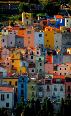 Bosa, the village of colors, Sardinia, Italy
