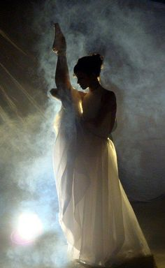 """for a dancer/ballerina bride perhaps? Could be done with car headlights and some talcum powder for """"fog""""."""