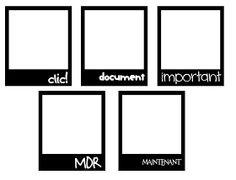 KLDezign les SVG: Des polaroids
