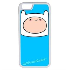 CellPowerCasesTM Finn Adventure Time iPhone 6 (4.7) V1 White Case ($9.98) ❤ liked on Polyvore featuring accessories, tech accessories and white