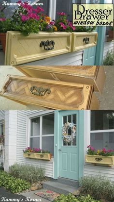 DIY Dresser Drawer Window Boxes                              …cute..... DoOr ColoR, Kyle....