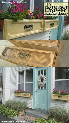 DIY Dresser Drawer Window Boxes                              …cute..... DoOr ColoR, Kyle....