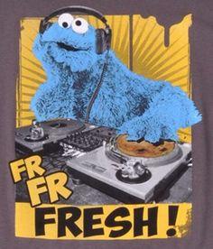 Cookie Monster Fresh DJ by Sesame Street Workshop Diy Crafts For Girls, Cookie Monster, Minions, Dj, Workshop, Snoopy, Fresh, Street, Fictional Characters
