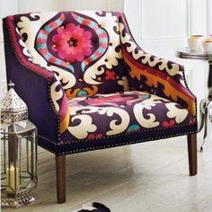 Beautiful upholstered chair | Rosely Pignataro: Mudando o visual das cadeiras velhas.